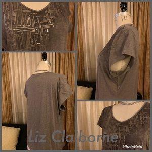 Liz Claiborne Embellished T-shirt